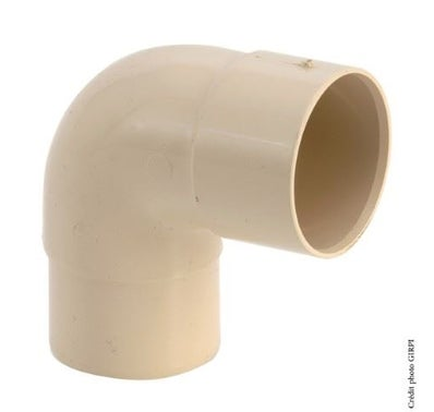 Coude 87.30° diam 50mm PVC sable GIRPI 1