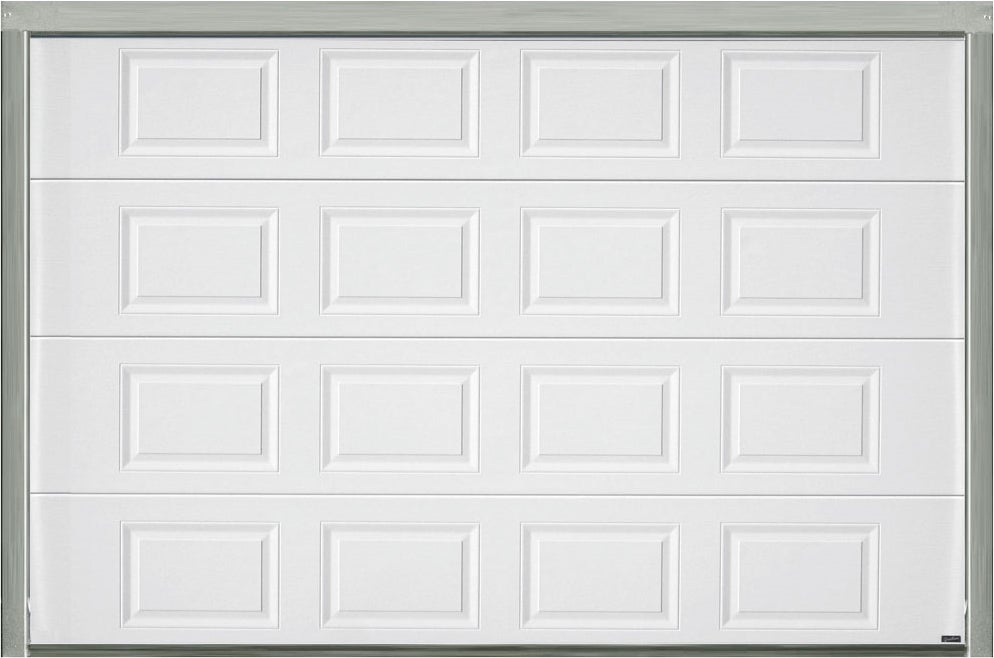 Porte de garage sectionnelle motoris e blanche h200xl300 bricoman - Porte garage sectionnelle motorisee ...