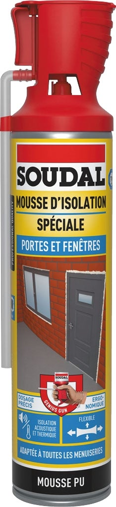 soudal mousse expansive portes et fenetres 500ml bricoman. Black Bedroom Furniture Sets. Home Design Ideas