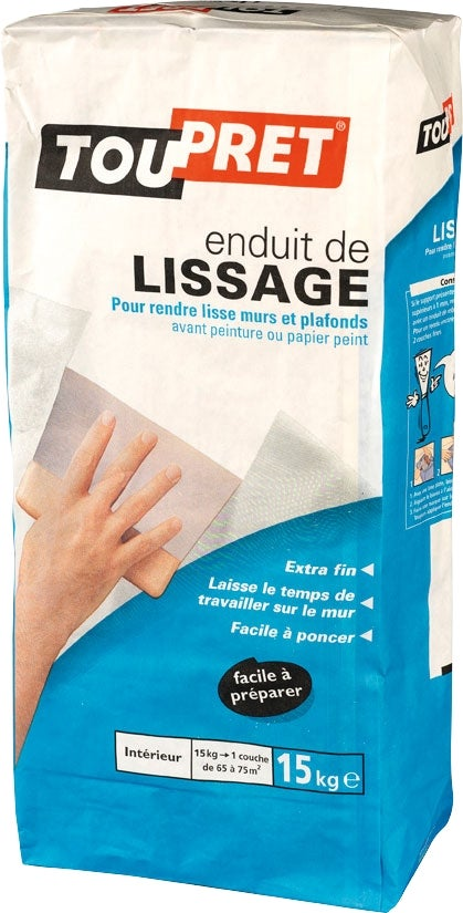 Enduit de lissage en poudre 15 kg bricoman for Video enduit de lissage