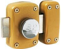 Verrou embouti bouton cylindre 45 mm