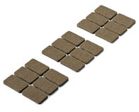 PATIN FEUTRE ADHESIF 36X22MM 18 PCS