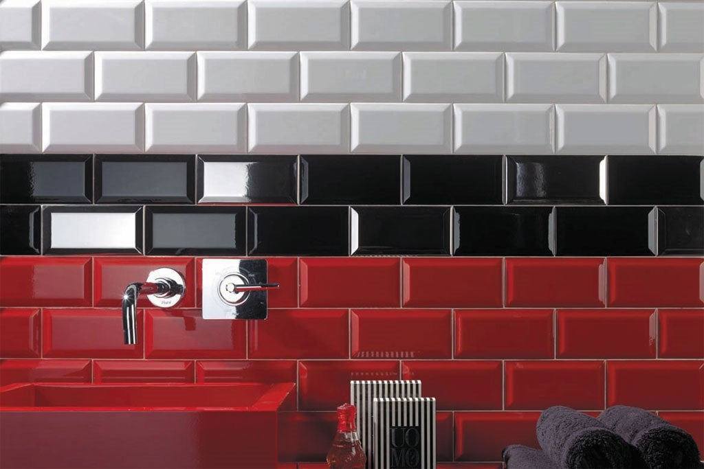 Faience 7 5x15 Metro Rouge Bricoman