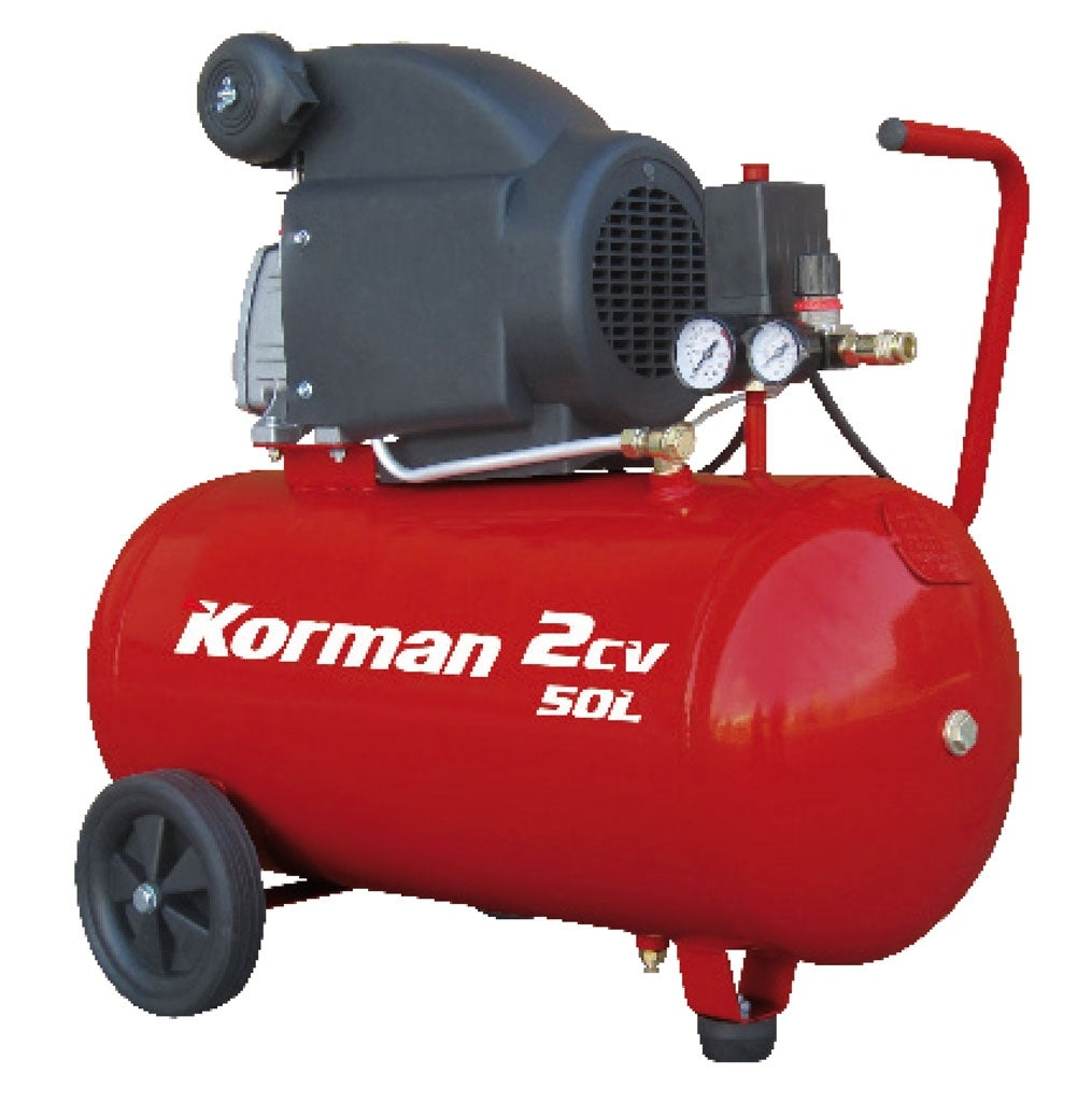 Compresseur a piston 50l 2cv 1500w korman bricoman - Compresseur d air 50l ...