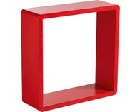 Lot de 3 cubes rouges