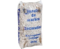 Sac Gravier Decoratif Marbre Blanc 6/10 mm, 25 Kg