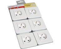 LOT DE 6 PRISE 2P+T 2 MODULES MOSAIC BLANC LEGRAND
