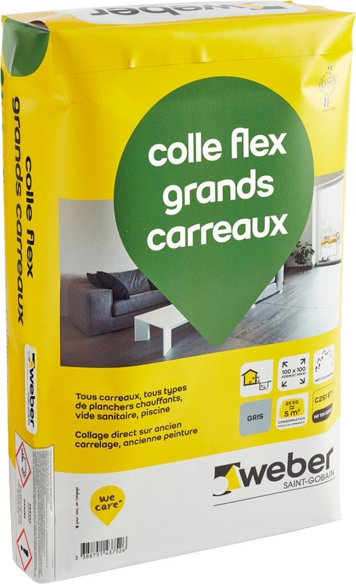 Colle Flex Grands Carreaux C2s1et Gris 25 Kg Bricoman