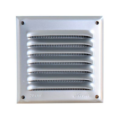 GRILLE CARREE ALU ANODISE GRIS 250 x 250 MM 1LM2020G NICOLL