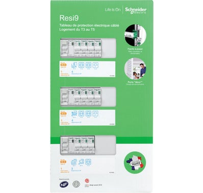 TABLEAU PRE-CABLE 3 RANGEES SCHNEIDER ELECTRIC 3