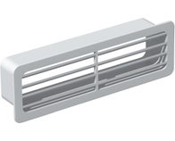 GRILLE EXT. PVC RIGIDE, RECT. 55X110MM