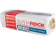 "Lot de 10 panneaux laine de roche ""ALPHA ROCK"" phonique Kraft TH34 Ep 40 mm R = 1,15"