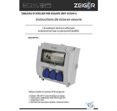 COFFRET DE CHANTIER IP65 ZEIGER 2