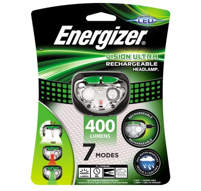 LAMPE TORCHE FRONTALE RECHARGEABLE HEADLIGHT ENERGIZER