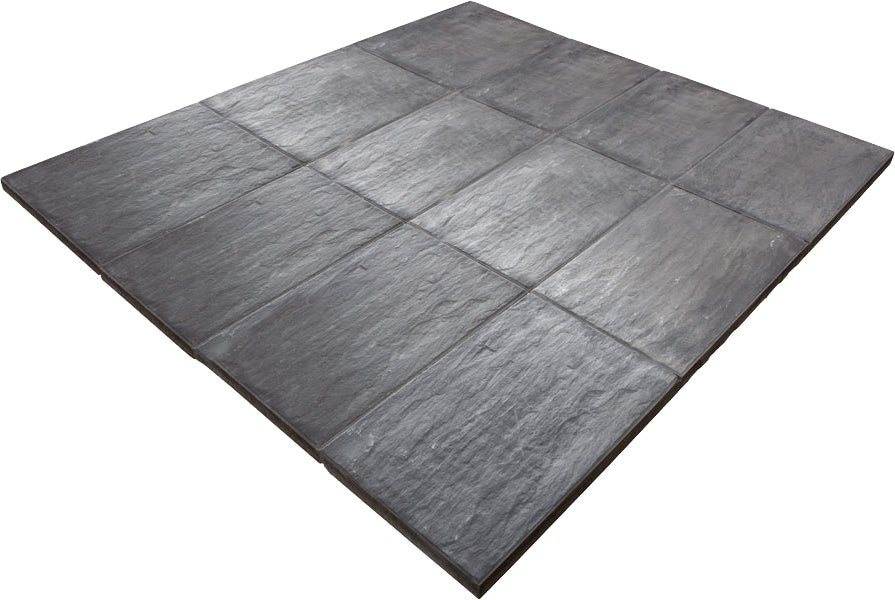 Dalle ardoise gris anthracite bricoman for Carrelage 50x50 gris anthracite