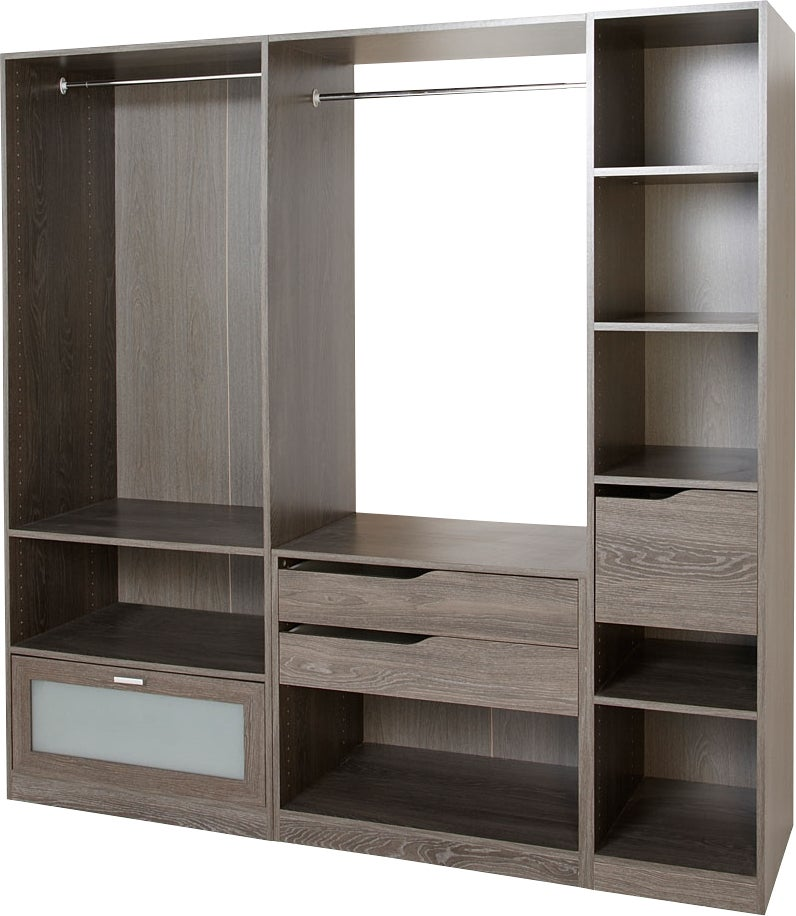 caisson colonne anthracite de largeur 40cm bricoman. Black Bedroom Furniture Sets. Home Design Ideas
