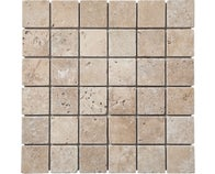 Mosaïque Travertin Beige 4,8 x 4,8