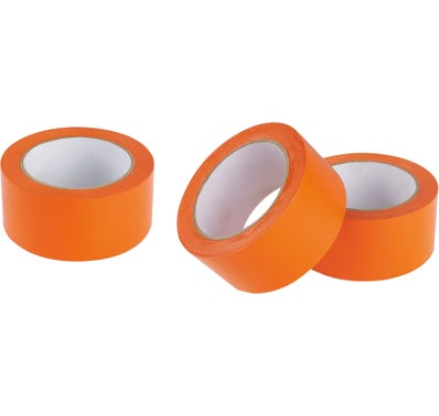 3 ROULEAUX ADHESIFS PVC ORANGE  33M X 50 MM 1