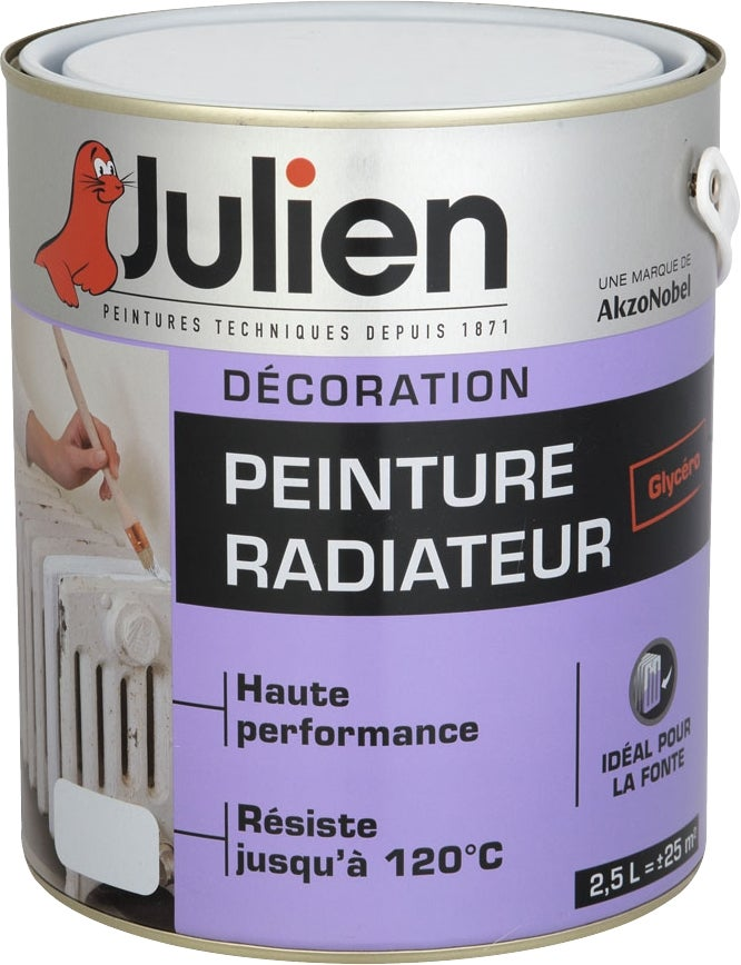julien peinture radiateur glyc ro blanc brillant 2 5 l bricoman. Black Bedroom Furniture Sets. Home Design Ideas