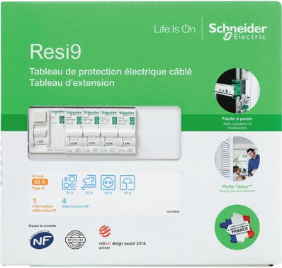 TABLEAU EXTENSION 1 RANGEE 4 DISJONCTEURS SCHNEIDER ELECTRIC 2