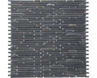 Mosaïque 30 x 30 cm MURETTO BLACK SUPER SLIM