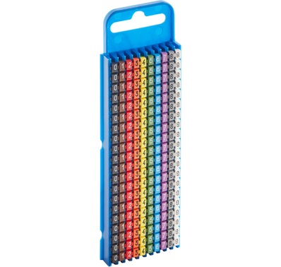 200 CLIPS REPERE CABLE LG 1.5 - 2.5 MM2