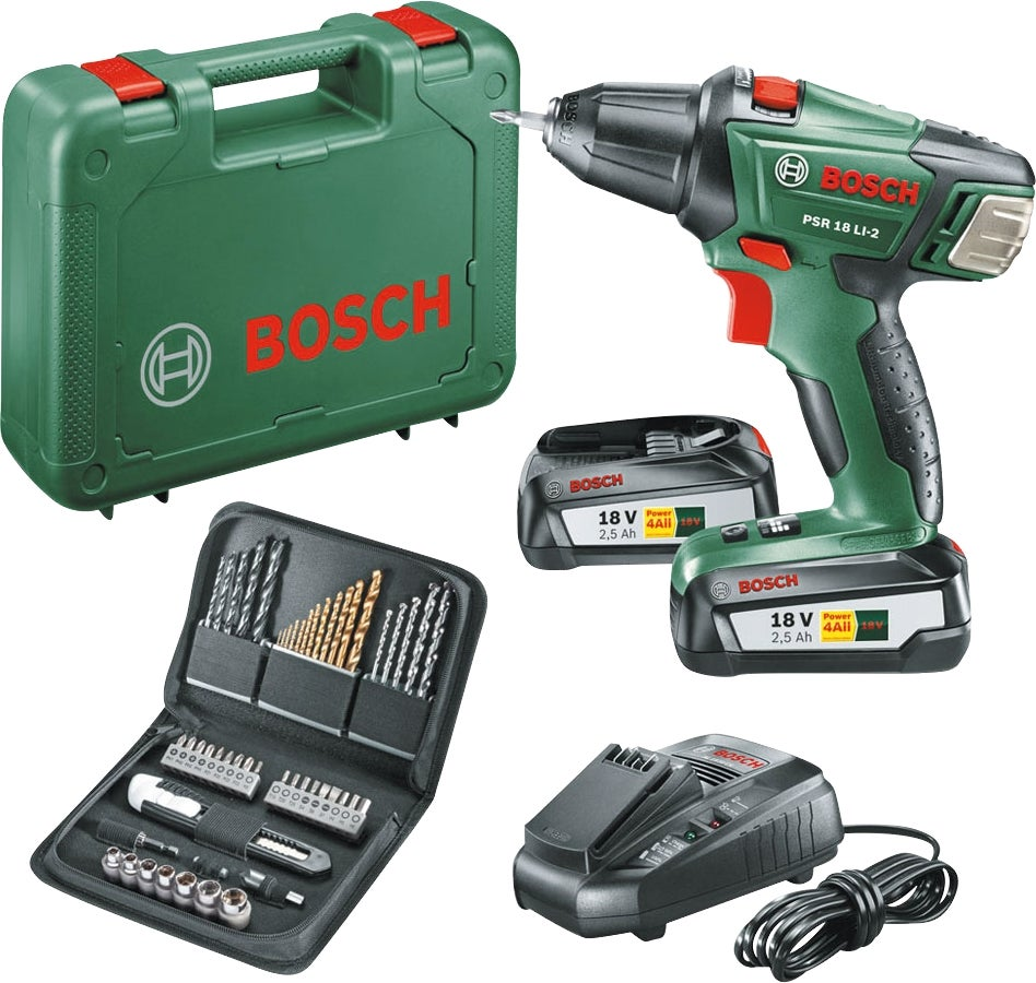 Perceuse sans fil 18v 51 pieces bosch bricoman - Perceuse sans fil 18v ...