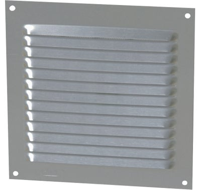 GRILLE CARREE ALU ANODISE GRIS 150 x 150 MM 1LM1515G NICOLL 2