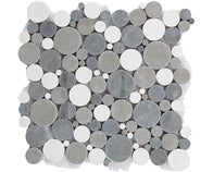 Galet rond blanc/gris/taupe