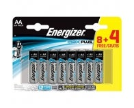 LOT 8+4 PILES AA MAX + ENERGIZER