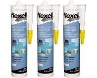 Lot 3 x Mastic colle fixation acrylique Flexell 310 ml