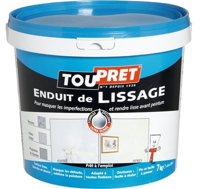 Enduit de lissage en p te 7 kg bricoman for Video enduit de lissage