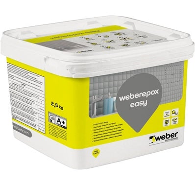Colle et joint epoxy easy blanc 2 5kg weber bricoman for Joints de carrelage