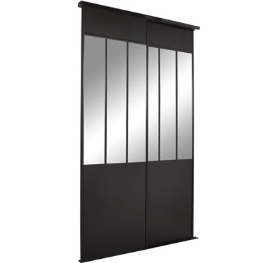 porte int rieure galandage vitr e prix portes coulissantes placard porte coulissante verre noir. Black Bedroom Furniture Sets. Home Design Ideas