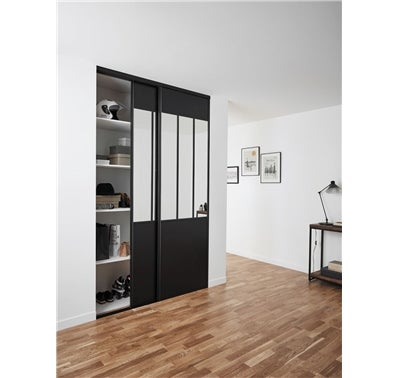 pack de 2 portes de placard coulissantes atelier bricoman. Black Bedroom Furniture Sets. Home Design Ideas